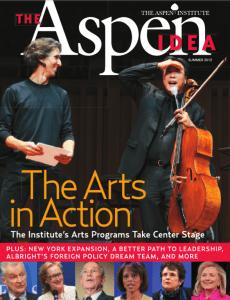 Aspen Idea Magazine cover: The Arts in Action