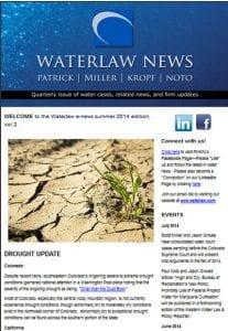 Waterlaw news: water law e-newsletter screenshot Volume 2