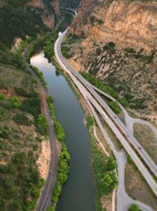 Colorado River in Gypsum Colorado